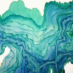 watercolor topography