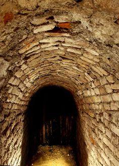 Milan secret tunnel, built in Leonardo DaVinci's day, which led from the Sforzesco Castle to St. Mark's Church.