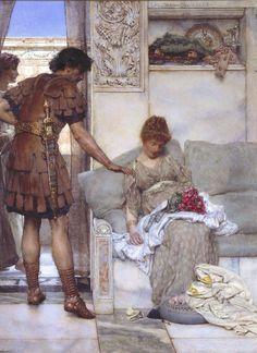 Sir Lawrence Alma-Tadema, A Silent Greeting, 1889