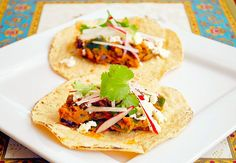 Pumpkin Black Bean & Poblano Tacos by ItsJoelen, via Flickr