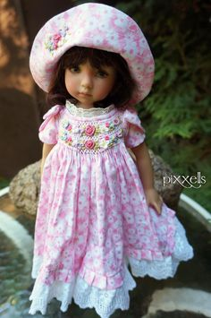 """Manyblooms Smocked for Dianna Effner 13"""" Linda Macario Connie Lowe by Pixxells 