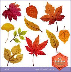 Digital Fall Leaves