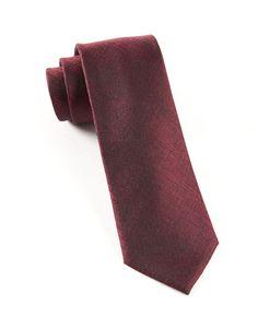 DEBONAIR SOLID TIES - DEEP BURGUNDY   Ties, Bow Ties, and Pocket Squares   The Tie Bar