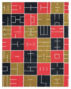 Alvin Lustig, textile design Intaglio, 1948-49. From the Exhibition Designing Home, til Oct 2014: Contemporary Jewish Museum, San Francisco
