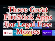 Three Great FireStick Apps For Legal Free Movies If you are looking for great movie apps for your FireStick that will allow you to stream some of the best co. Tv Hacks, Netflix Hacks, Free Tv And Movies, Movies To Watch Free, Amazon Fire Stick, Amazon Fire Tv, How To Jailbreak Firestick, Free Netflix Codes, Free Tv Streaming