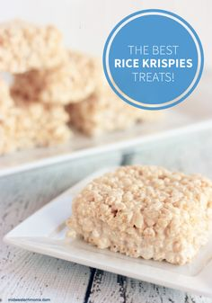 There is nothing better than the ooey-gooey goodness of a Rice Krispies Treat®! This recipe is the best ever. Click to check it out and whip up a batch for your whole family to enjoy this weekend.