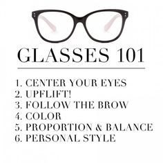 GLASSES 101: THE RULES
