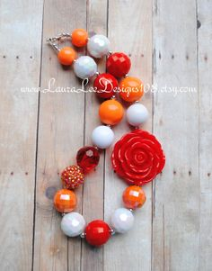 Red Orange and White Summer Children's by LauraLeeDesigns108, $16.99