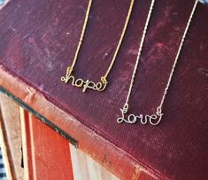 A beautiful necklace. So pretty. Say My Name Wire Necklace