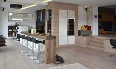 Gasamtkonzept, Kücheninsel, Holzboden an der Wand, Bar Inspiration, Lighting, Modern, Kitchen, Table, Vintage, Furniture, Home Decor, Timber Flooring