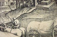 "BRUEGEL Pieter I (d'Après),1555 - Chariot Belge, Estampe de Van Doetecum (Custodia) - Detail 10  TAGS / details détail détails drawing dessin dibujos ""dessins 16e"" ""16th-century drawings"" stamp print landscape view panorama route road castle château arbres tree trees maisons house ferme farm colline hill mountain montagne agriculture river lac rivière lake berger shepherd shepherd sheep sheeps moutons agriculture animal animals animaux ship voilier man men hommes Pieter Bruegel, Drawing, Abstract, Artwork, Drawings, Printmaking, Sailboats, Animaux, Drawing Drawing"