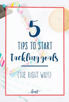 Are you tired of not accomplishing your goals? Then click over to check out these five tips that will help you start tackling your goals. (Make sure you check out the awesome resource at the bottom!)