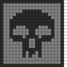 MtG Black Mana Coaster Perler Bead Pattern / Bead Sprite