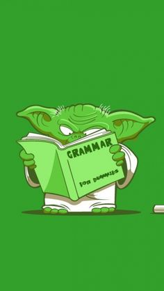Image result for small yoda reading image