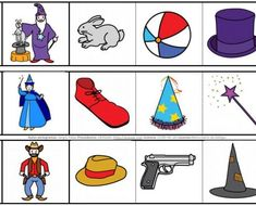 Busca_el_intruso_intrusos_Carnaval_pictogramas_ARASAAC_4 Preschool Worksheets, Kindergarten, Disney Characters, Fictional Characters, Playing Cards, Classroom, Games, Phonological Awareness, Educational Activities
