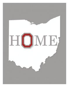 Ohio State University Wall Art by KCScreative on Etsy, $10.00