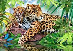 леопарды - Схемы вышивки - allllla2 - Авторы - Портал «Вышивка крестом»