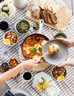gorgeous israeli breakfast spread. NOMS!