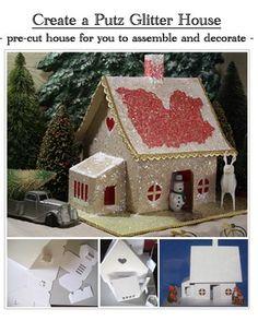 putz glitter house template - I think I found my home!
