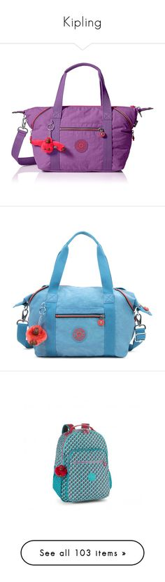 """Kipling"" by lorika-borika on Polyvore featuring bags, handbags, tote bags, purple purse, kipling tote, satchel handbags, satchel purses, purple tote bags, blue grey и man satchel bag"