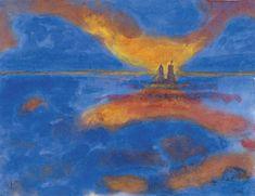Nubes rojas. 1941-45. Nolde