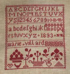 Cross Stitch Freebies, Schoolgirl, Le Point, Points, Crochet, Needlework, Alphabet, Chart, Embroidery