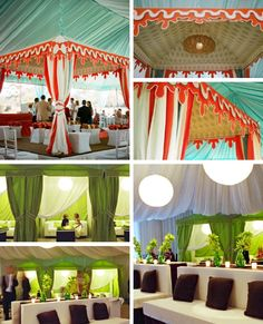 Outdoor party tent