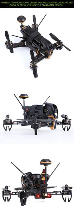 Walkera F210 Professional Deluxe Racer Quadcopter Drone w/ 5.8G Goggle4 FPV Glasses /Devo 7 Transmitter /700TVL Night Vision Camera / OSD / Ready to Fly Set RTF Mode 2 #tech #parts #camera #kit #racing #shopping #technology #drone #walkera #products #fpv #plans #gadgets #3d