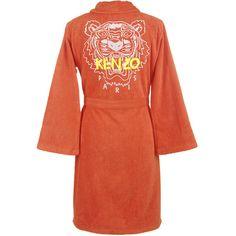 Kenzo Iconic Bathrobe - Feu (1203725 PYG) ❤ liked on Polyvore featuring intimates, robes, kenzo, embroidered robes, bath robes, embroidered bath robe and embroidered bathrobe