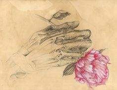 SALE Limited Edition HUMAN NATURE Anatomy Series Number 5 8x10 Lustre Glossy Print Hand Muscle Peony Signed and Numbered