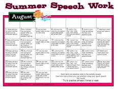 August Speech Work Calendar - Pinned by #PediaStaff. Visit http://ht.ly/63sNt for all our pediatric therapy pins