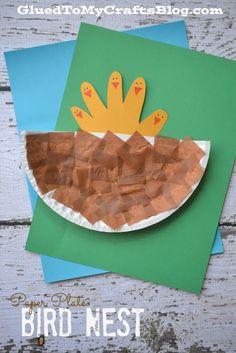 Paper Plate Bird Nest - Kid Craft