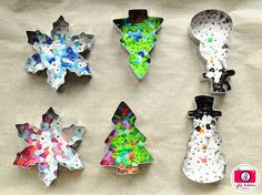 melted perler bead and cookie cutter ornaments | Meet the Dubiens