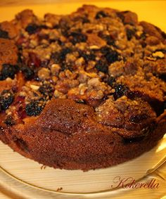 Blackberry Apple Crumble Cake - I promise you this is a truly tastfull and comforting cake - getting better after one day or two...