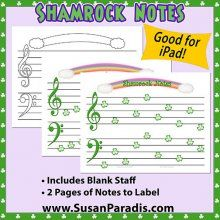 Shamrock Notes for St. Patrick's Day