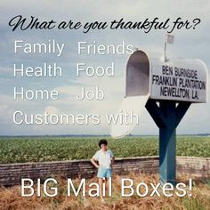 Mail carriers are always thankful for big mail boxes!