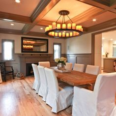 Dining Room Parson Chairs Design Ideas, Pictures, Remodel, and Decor - page 2