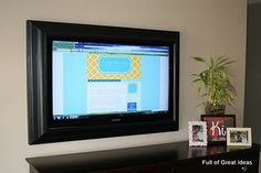 bril idea for making a TV (or monitor) look classy. Clicking the pic leads to the tutorial