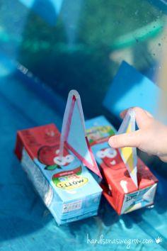 Juice box boats.