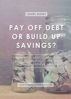 Ready to finally fix your finances, but simply not sure where to start? Is it more important to pay off debt first, or build up your savings? Here's how to know exactly what steps to take (and in what order) to get--and keep--your finances on track! Ways To Save Money, Money Tips, Money Saving Tips, How To Make Money, Budgeting Finances, Budgeting Tips, Finances Debt, Paying Off Student Loans, Paying Off Credit Cards