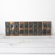Vintage 1910s Antique Copper Flash Door Plate Lot by TintedVintage, $100.00