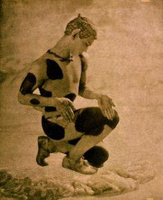Vaslav Nijinsky - L'apres Midi d'un Faune 1912 - Photograph by Baron Adolf de Meyer