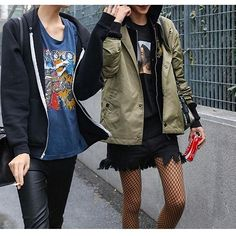 630573d889e58f Jeans With Net Stockings Fishnet Trend, Fishnet Tights, Faux Leather  Jackets, Boho Fashion