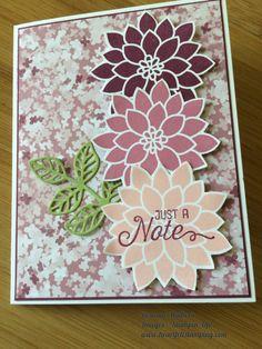 http://www.heartfeltstamping.com/flourish-of-flowers  Stampin' Up!  Flourishing Phrases, Blooms & Bliss DSP, flowers