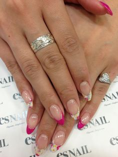 Floral and pink tips