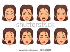 Find Women Facial Gestures Happiness Surprise Disgust stock images in HD and millions of other royalty-free stock photos, illustrations and vectors in the Shutterstock collection. Cartoon Mouths, Cartoon Man, Cartoon Faces, Cartoon Icons, Cartoon Styles, Cute Cartoon, Emoji, Halloween Letters, Android