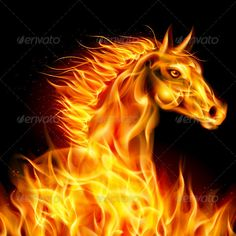Fire Horse. — Vector EPS #burn #energy • Available here → https://graphicriver.net/item/fire-horse/5894136?ref=pxcr