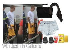 """With Justin in California"" by kylizie ❤ liked on Polyvore featuring Justin Bieber, Yves Saint Laurent, Charlotte Russe, OPTIONS, life, JustinBieber and celebrity"