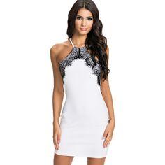 White Lace Bodycon Dress Sale LAVELIQ