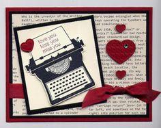 Stampin' Up! Valentine's Day card Typewriter